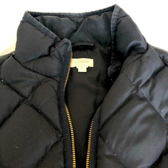 J Crew Factory Quilted Vest, Black
